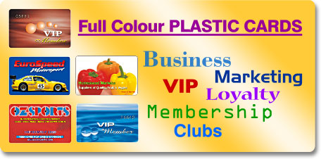 full colour plastic cards